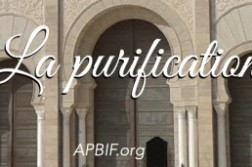 Purification, ablutions islam